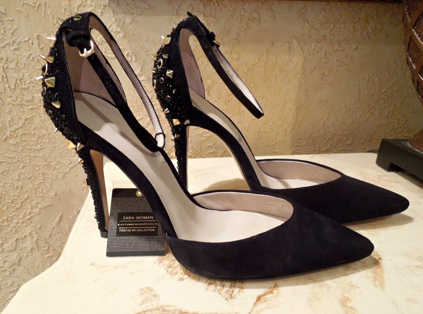 0f790fe7d9d LaChicCouture  New Shoes  Zara Studded Heels