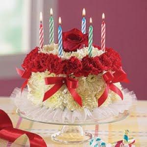 Birthday Cake Made Of Flowers Birthday Cake Mail Order Birthday