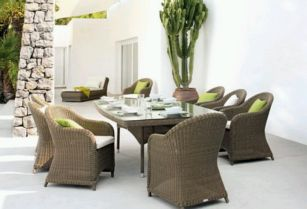 Rattan or Wicker Outdoor Furniture , Decoration and Design
