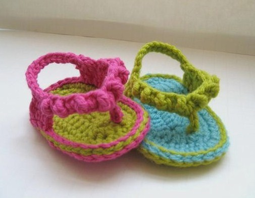 Love Of Crochet Com : For the Love of Crochet Along: Crochet Baby Flip Flops, a must have ...