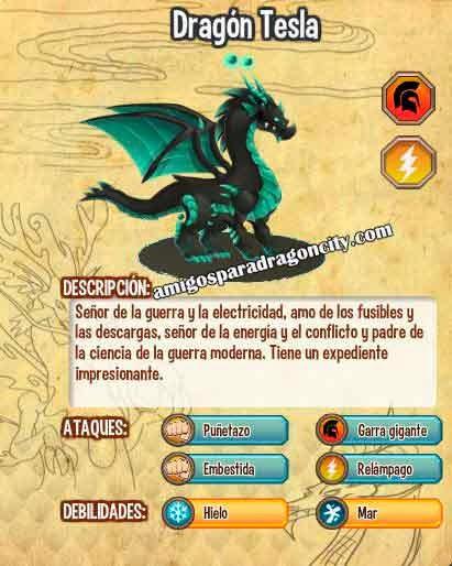imagen de las caracteristicas del dragon tesla