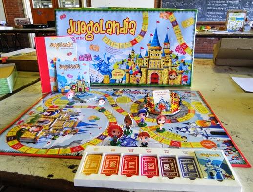 diseo grfico juegolandia juego de mesa con tablero fichas y personajes contiene un cd para jugar por computadora y un libro con las reglas del juego