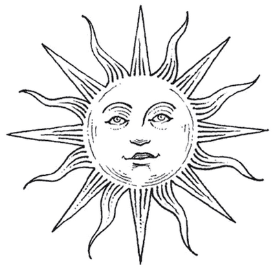 simple sun drawing black and white  Sun Tattoo Design