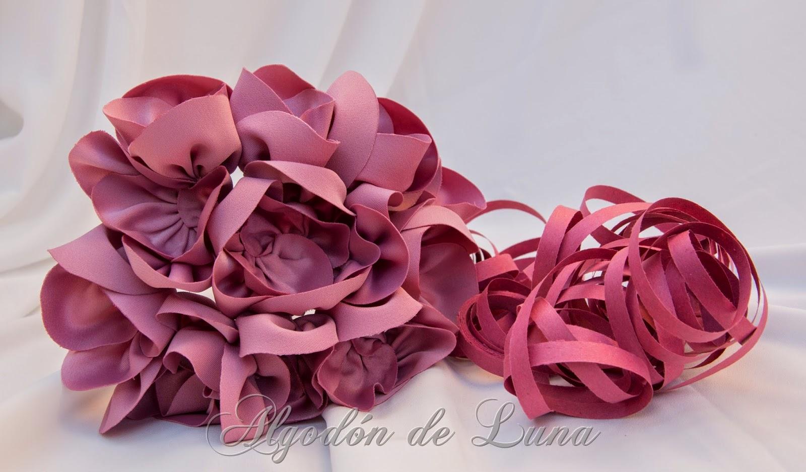 Algodón de Luna: Ramos de flores de tela para novias, para tu boda ...