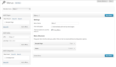 WordPress 3.6 - Improved Menu