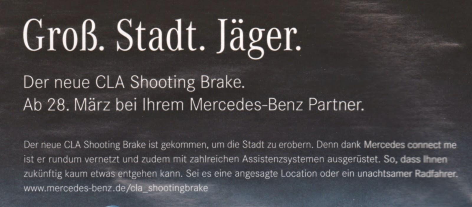 Mit dem Shooting Brake auf Radfahrerjagd in der Großstadt