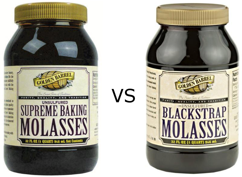 Golden Barrel Supreme Baking Molasses vs. Golden Barrel Blackstrap Molasses
