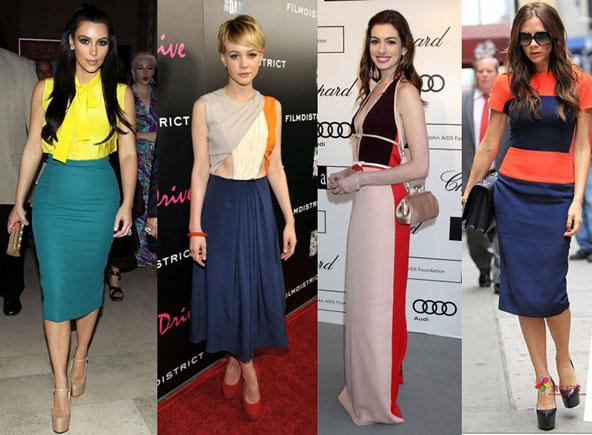Colour blocking dress styles