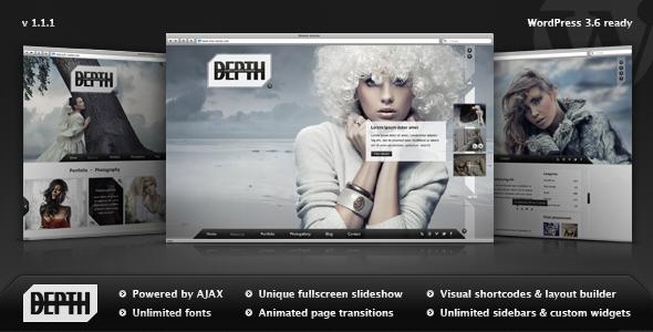 Descargar] Plantilla Wordpress Depth – Portfolio / Fotografia ...