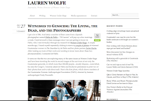 """Witnesses to Genocide: The Living, the Dead, and the Photographers"" by Lauren Wolfe New York"