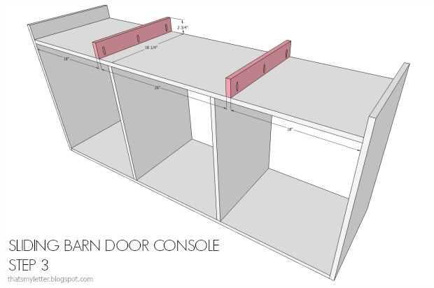 diy console base supports