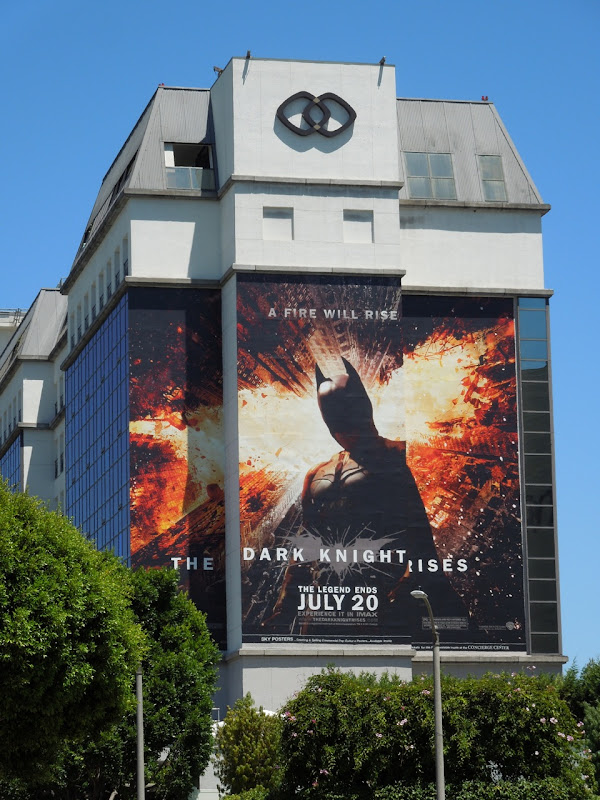 Giant Dark Knight Rises movie billboard