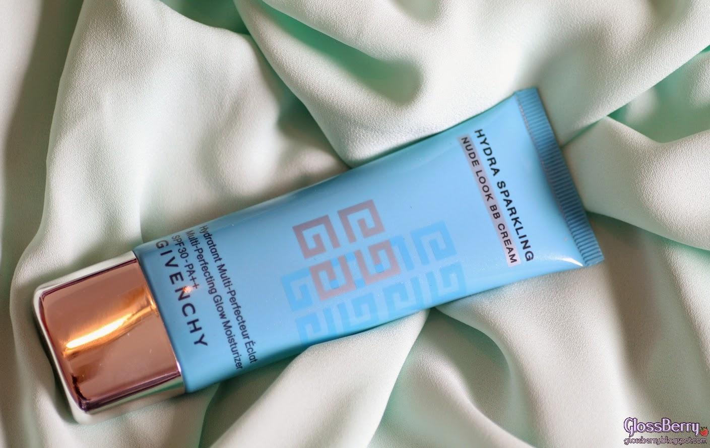 GIVENCHY Hydra Sparkling Nude Look BB Cream Multi-Perfecting Glow Moisturizer SPF 30 PA ++  סקירה ביבי BB קרם ג'יבנשי גלוסברי