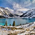 Lago en la montaña - Winter mountains