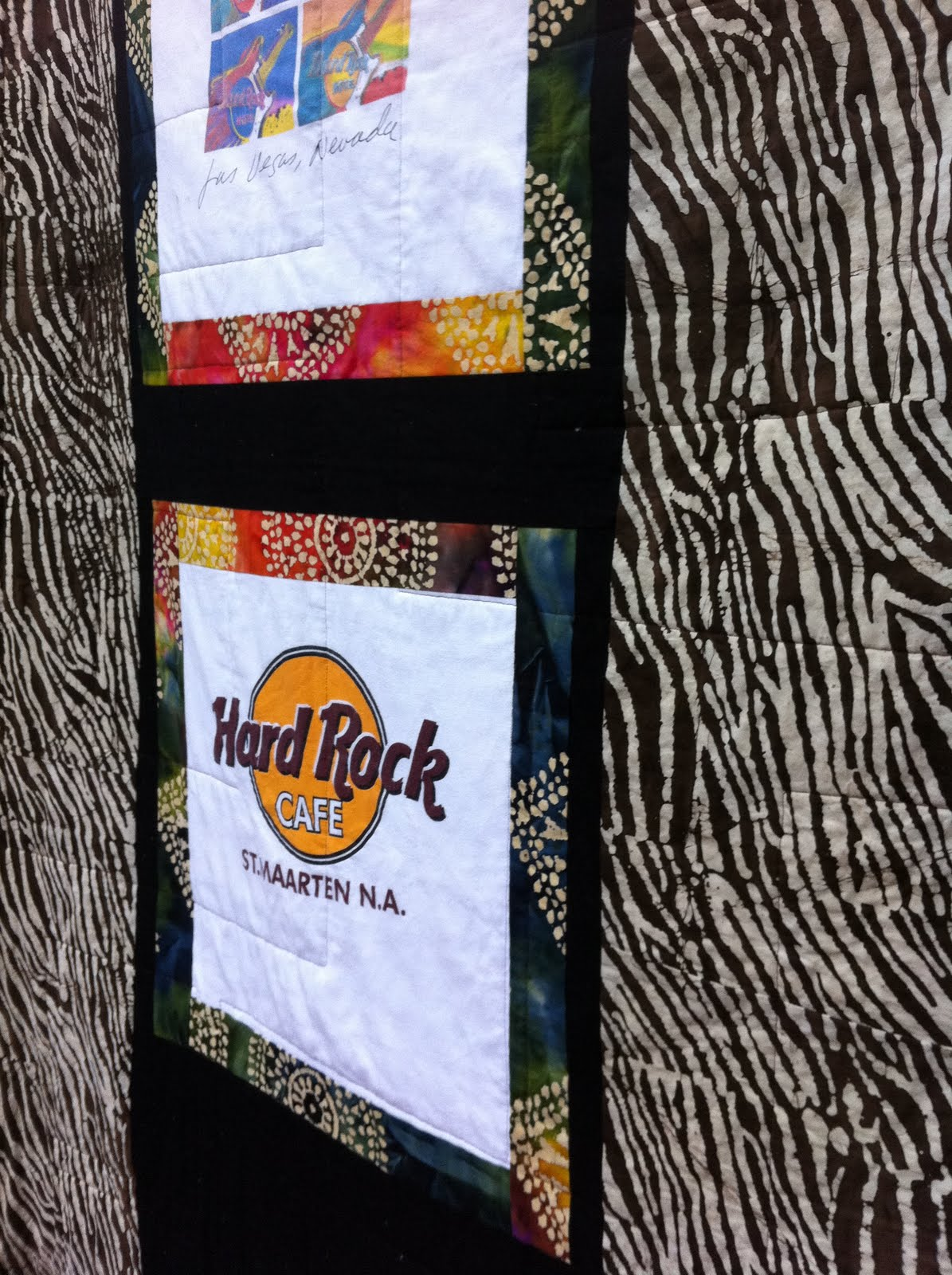 Hard Rock Cafe T Shirt Quilt