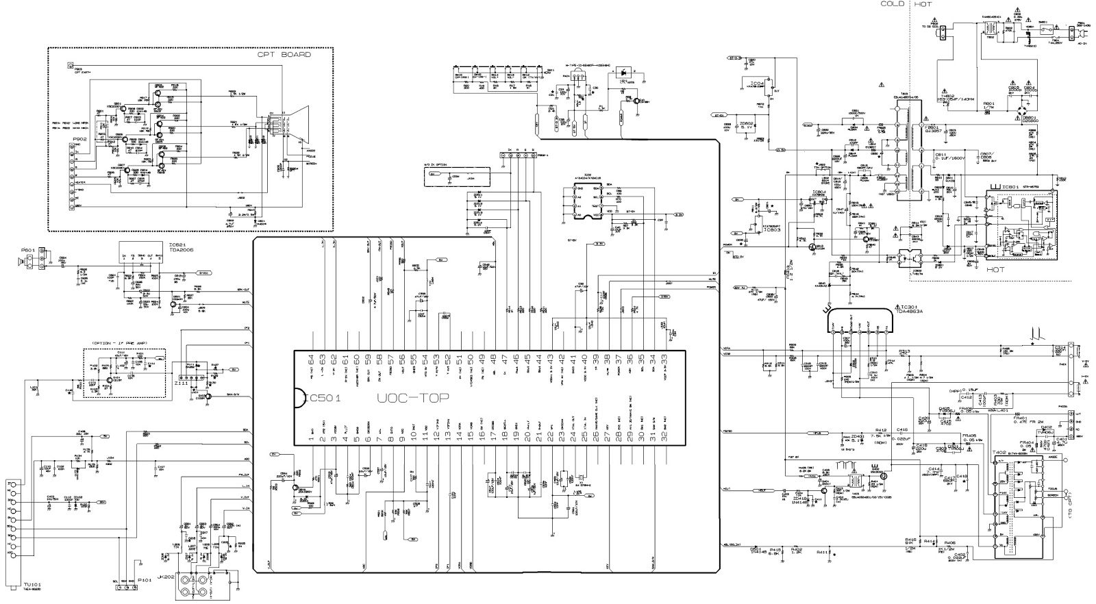 Lg21fj6  U2013 Colour Tv  U2013 Circuit Diagram  U2013 Main Components