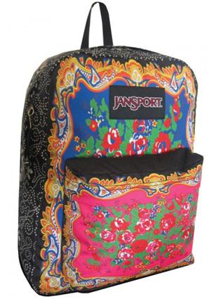 Farm e JanSport mochila feminina estampa arabescos com floral