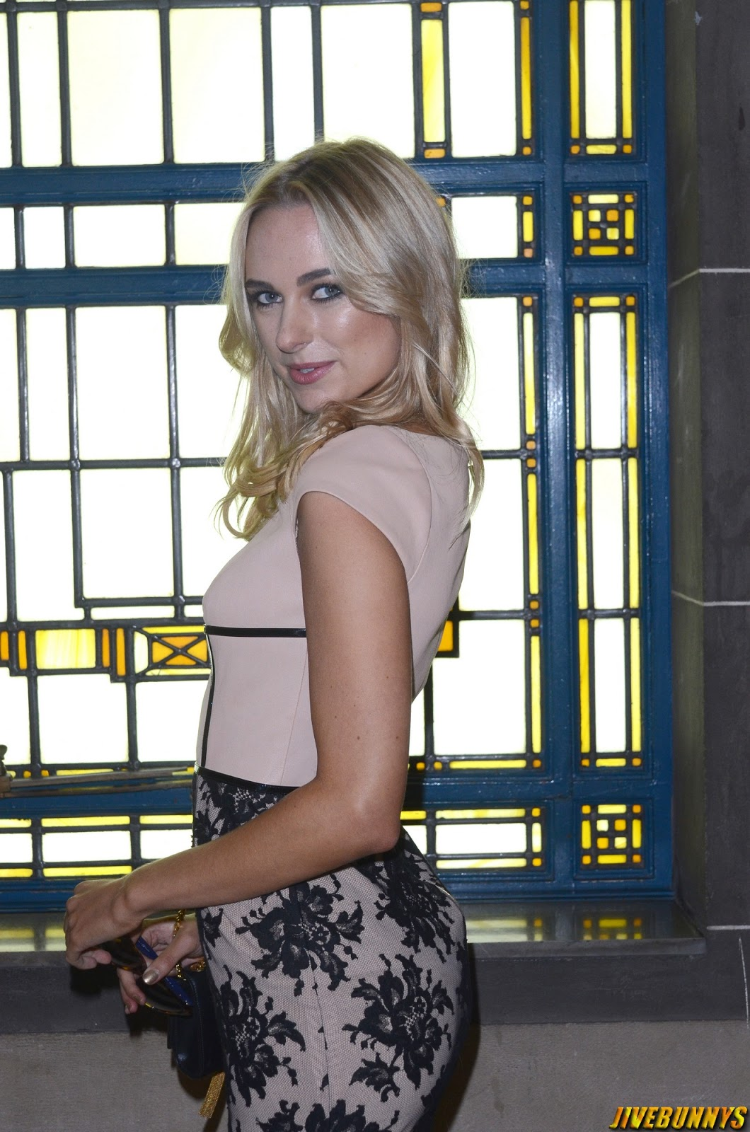 Kimberley Garner @ Bernard Chandran show for London Fashion Week - 13/09/2014