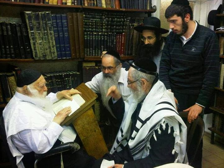 Rabbi Eliezer Berland and Reb Chaim Kanievsky