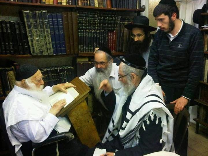 Rabbi Eliezer Berland and Reb Chaim Kanievsky