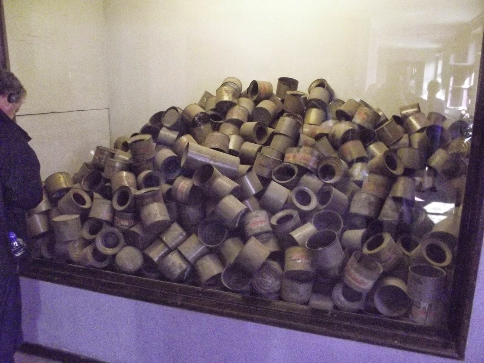 Auschwitz gas cans for gas chamber