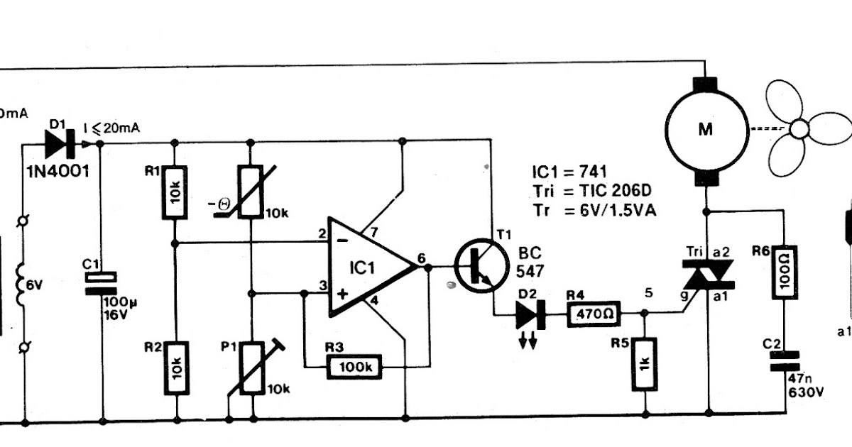 refrigerator thermostat circuit using ic 741