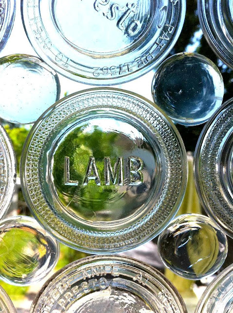 Steampunk glass canning jar lid privacy window - Donna Herman featured on I Love That Junk