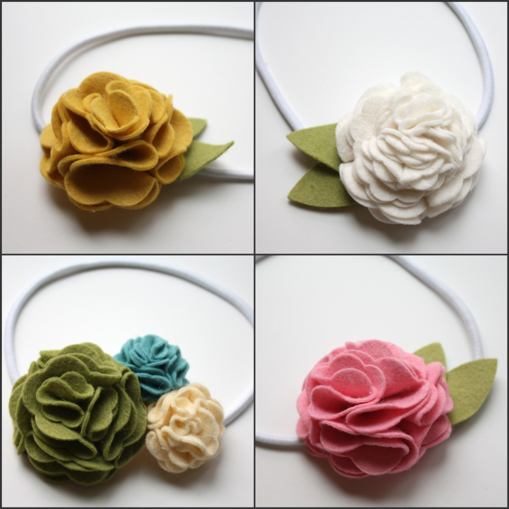 How To Make Felt Flower Headbands For Babies