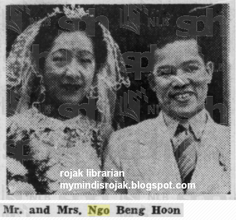 Mr Ngo Beng Hoon and Miss Gan Ding Neo