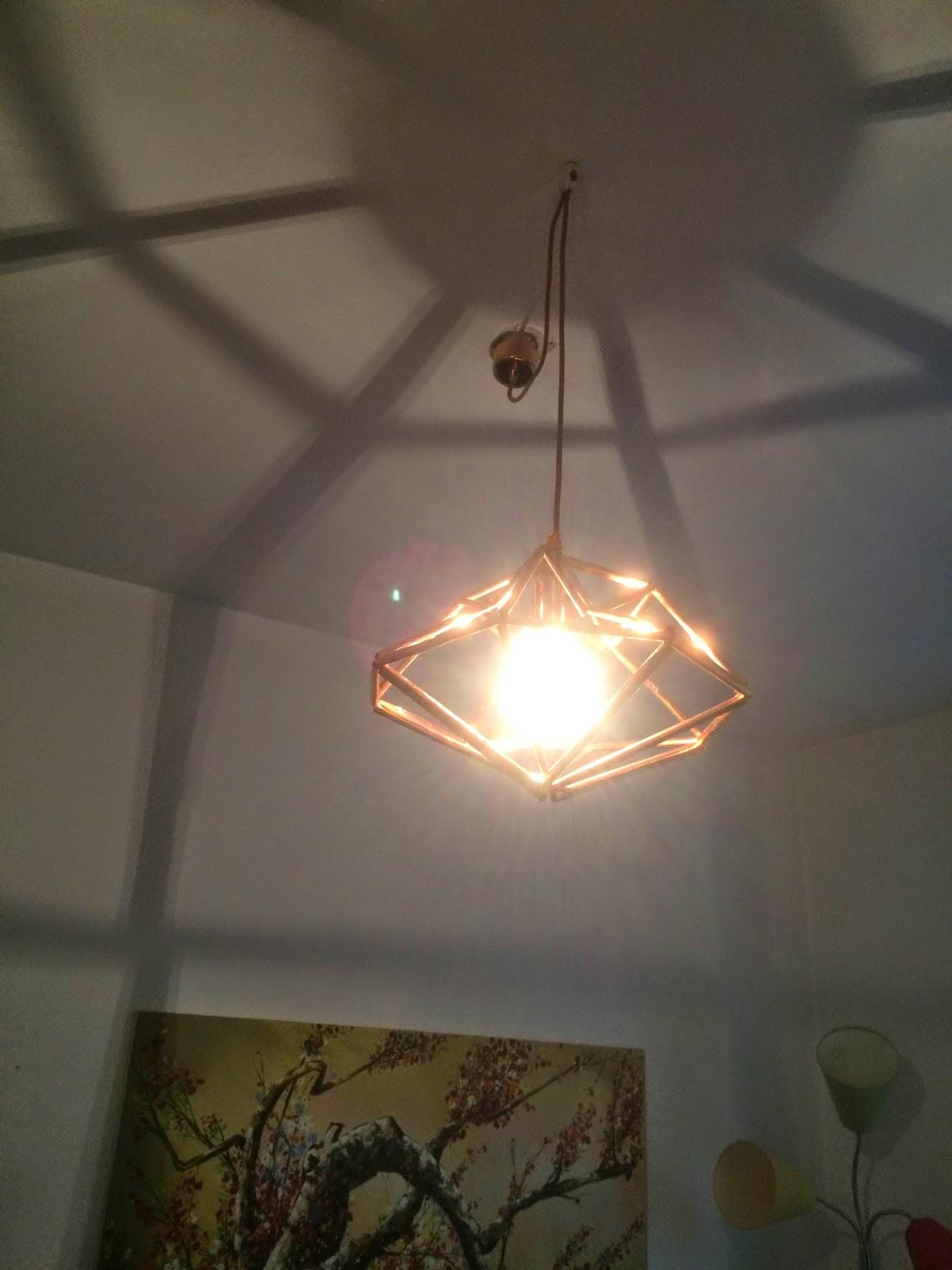 diamant kobberlampe