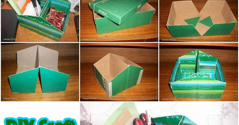 Astute Homestead Diy Craft Organizer From Shoe Box