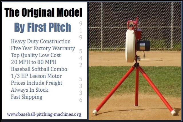 The First Pitch Original Model - Heavy Duty Batting Practice Baseball Or Softball Legs