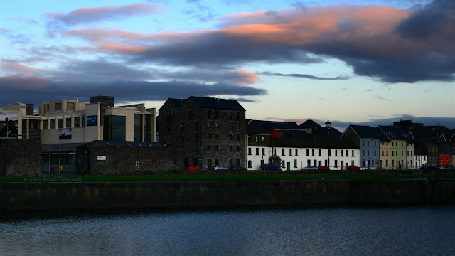 Sunset walk on Claddagh Quay, Galway