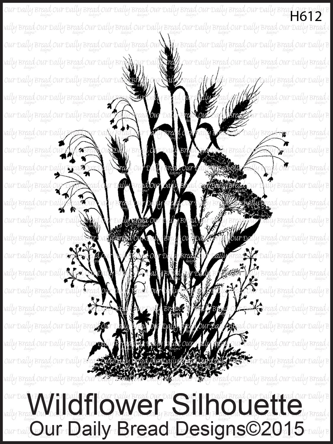 Stamps - Our Daily Bread Designs Wildflower Silhouette