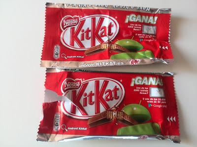 Envoltorios para participar en la promoción de Android KitKat