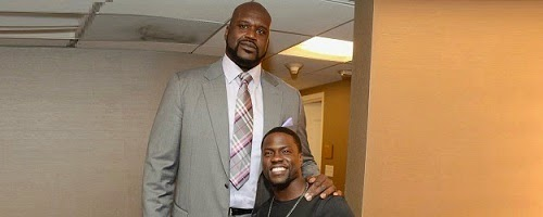 Shaquille O'Neal And Kevin Hart Pose Together