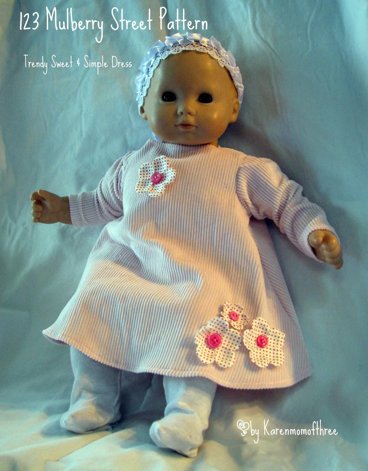Karen Mom of Three\'s Craft Blog: A wonderful new pattern for Bitty ...