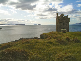 Ruins of Gylen Castle, overlooking Firth of Lorne