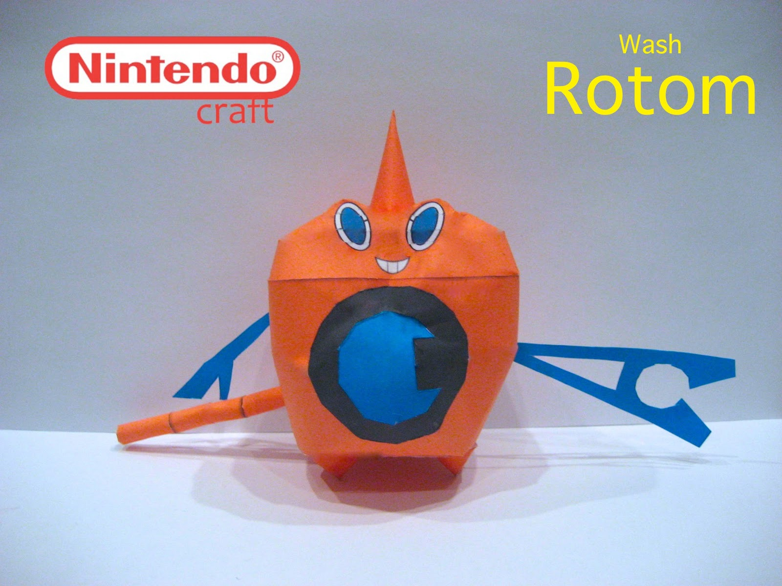 Pokemon Wash Rotom Papercraft