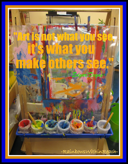 photo of: Art Easel with Degas Quote via RainbowsWithinReach