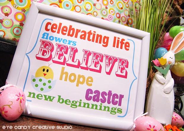 Easter eggs, bunny, framed art print, Easter art, little chick, new life