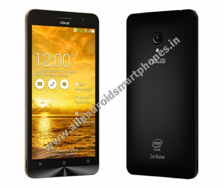 Asus Zenfone 6 Dual Sim Android Phablet Charcoal Black Front Back Images Photos Pics Review