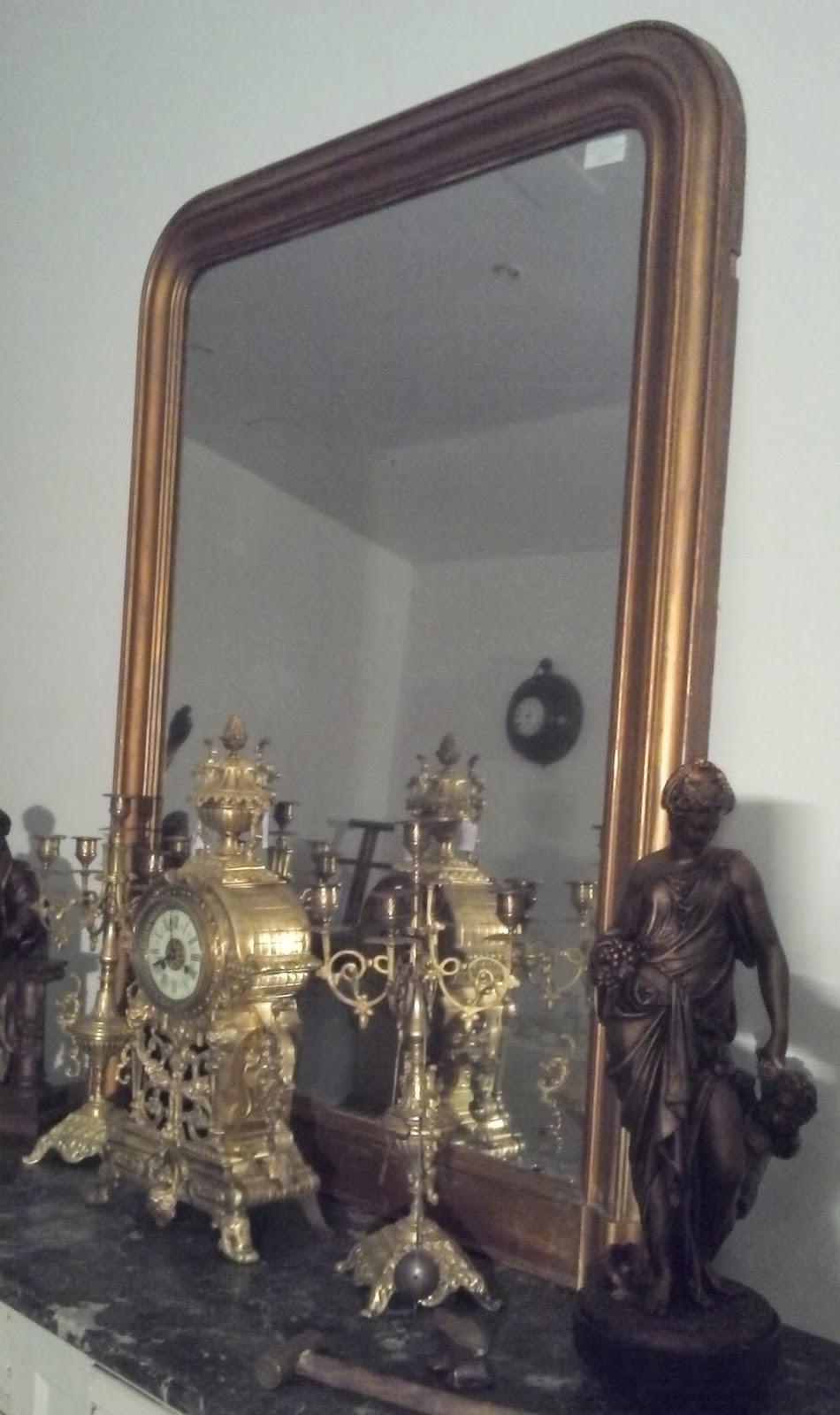 ancien miroir poque louis philippe dor parure de chemin e xixeme antique frenc ebay. Black Bedroom Furniture Sets. Home Design Ideas
