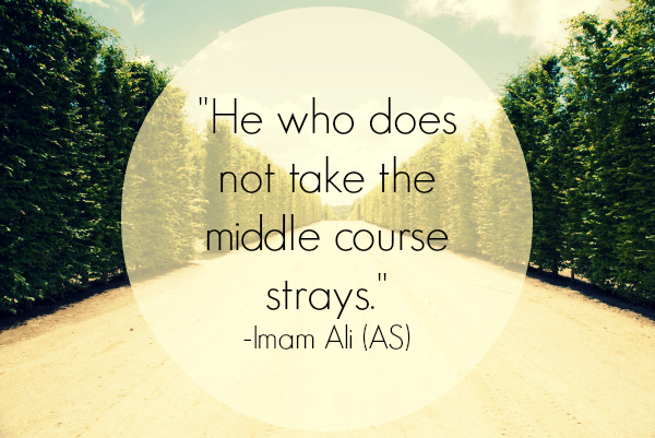He who does not take the middle course strays.