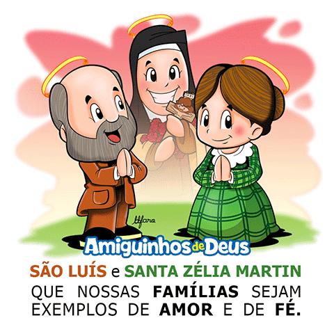 São Luís e Santa Zélia Martin pais de Santa Terezinha desenho