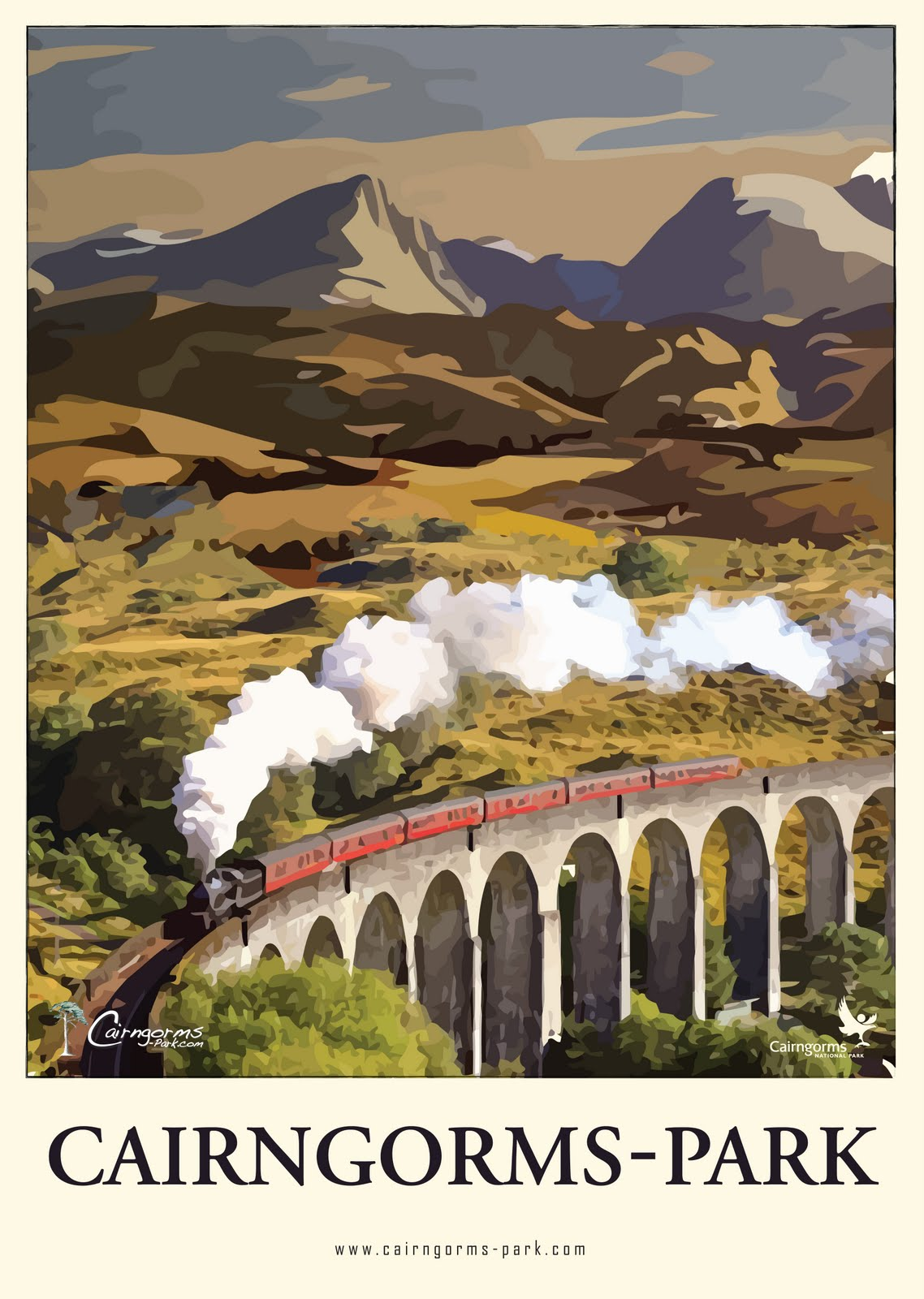 Retro Cairngorms Poster