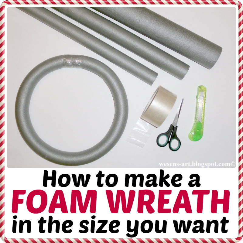 DIY FoamWreath   wesens-art.blogspot.com