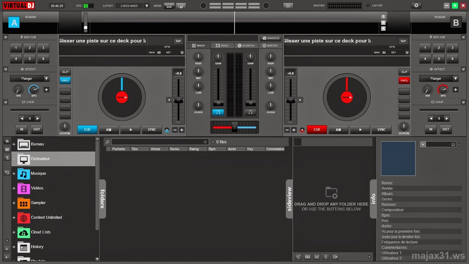 AtomixMP3 A MP3 DJ mix software