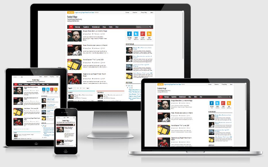Fastest Magz V 2.2 Responsive Blogger Template