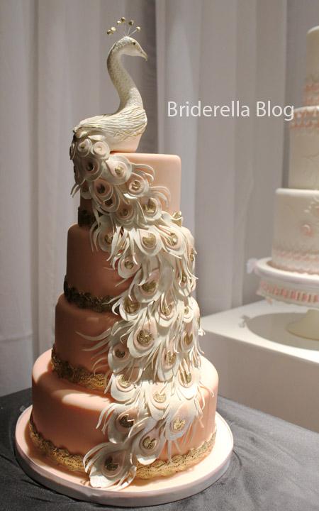 Ukrainian Cake Blue Gold Wedding